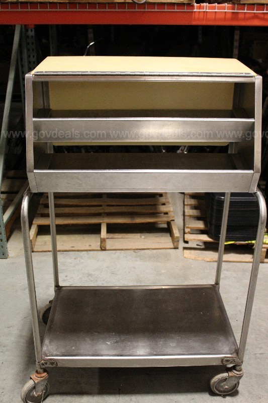 3- Rolling Tray Carts