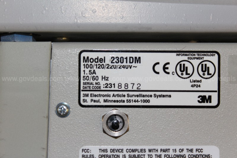 3M Library Security Sys. Model 2301DM