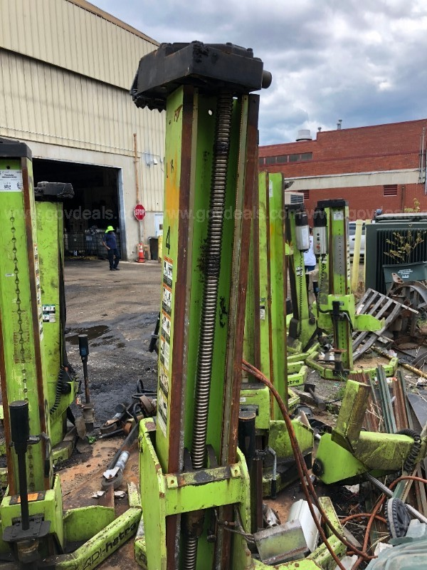 Lot of 6:  Ari hetra HDML-8 Mobile Column Lift - 15,000 pound capacity each