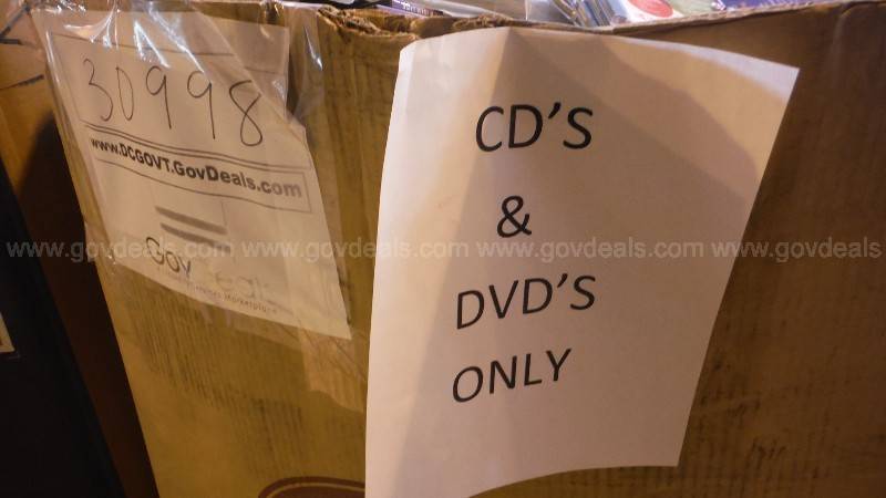 Educational CD's and DVD's (1 Gaylord Box)