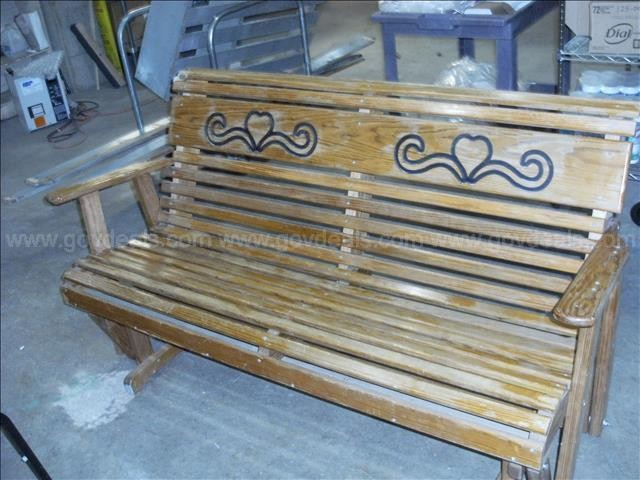 Wooden Bench Swing (1)