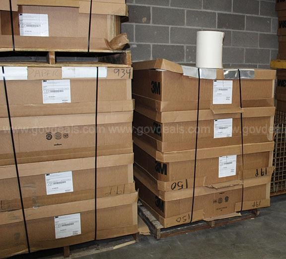 Lot of Approx. 200 Paper Rolls on 3 Pallets (1)