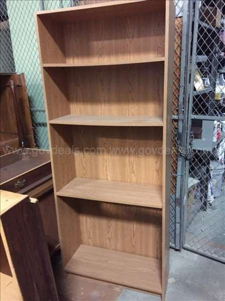 Wood Base Cabinets (3), Wood Bookcases (2)