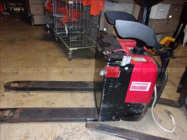 Dayton Ride On Platform Electric Pallet Jack with Charger