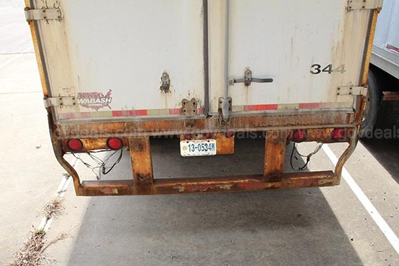 1999 Wabash 45Ft Box Van Trailer, Needs Repairs