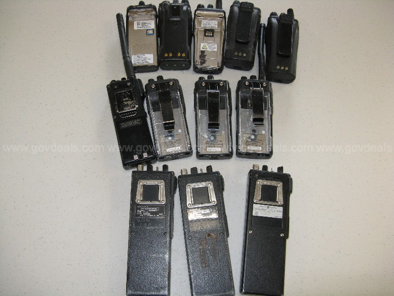 list of 5 radios,hand held, 2-way on Inventory