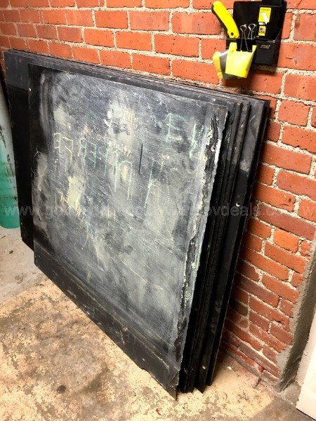Slate slabs, black (old chalkboards) (Lot of 10 pieces)
