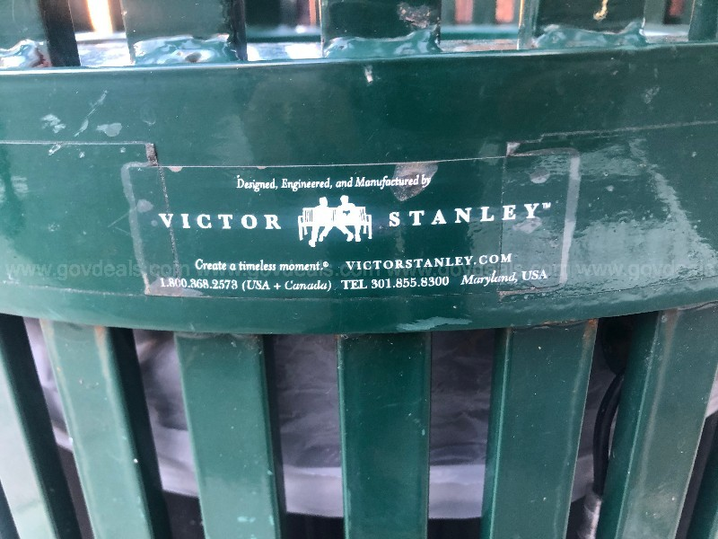 Victor Stanley Trash Cans (Green Lot of 10)