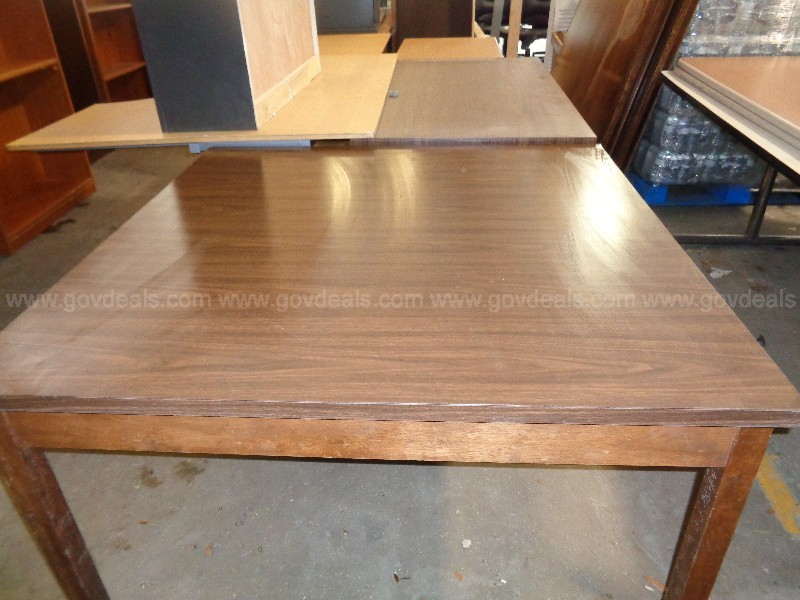 (1) USED WOOD  LARGE SQUARE TABLE.
