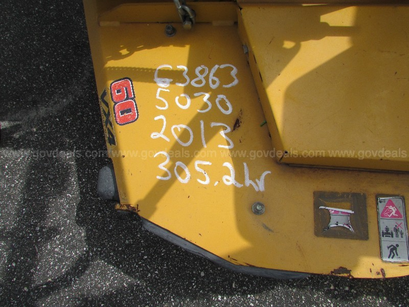 "(1) USED HUSTLER ZERO TURN MOWER, 2013. 60"" DIESEL."