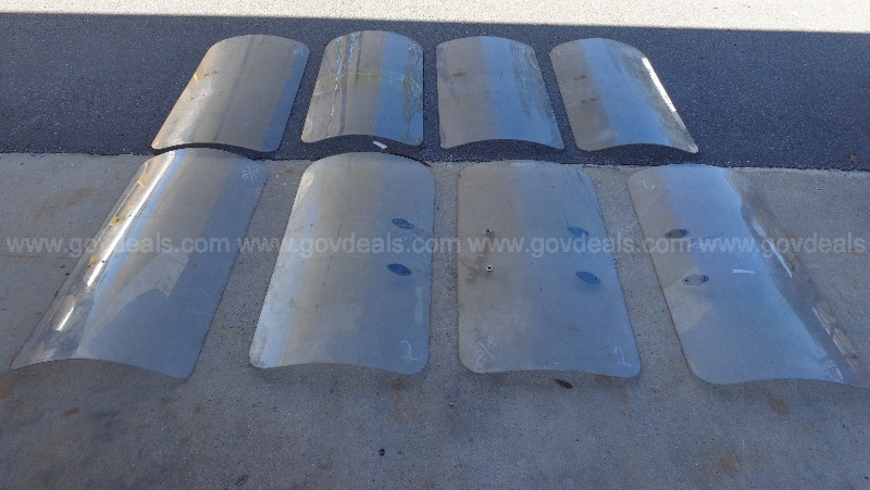 (8) USED BODY RIOT SHIELDS NO HANDLES