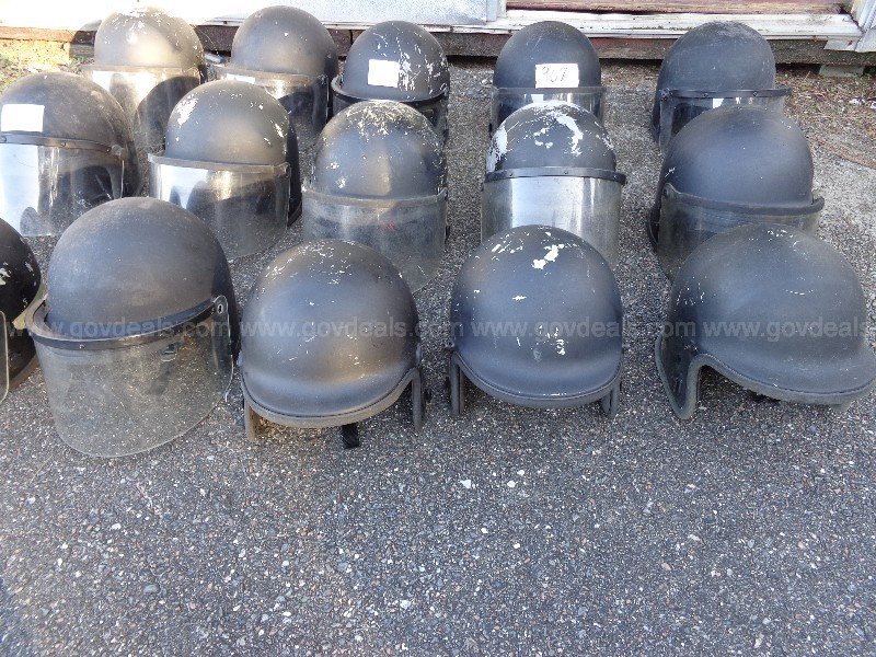 (15) USED POLICE HELMETS (GROUP F)