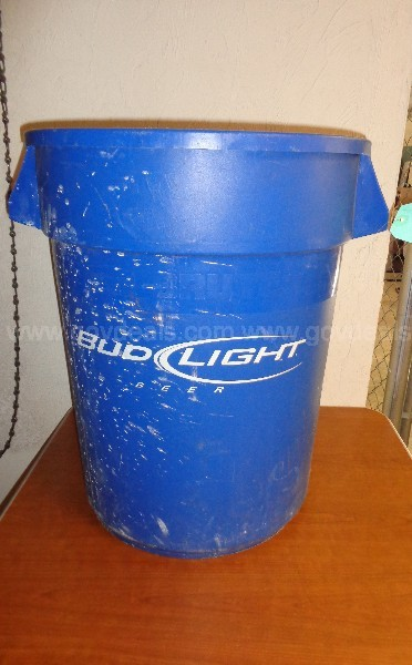 (1) USED BUD LIGHT GARBAGE CAN