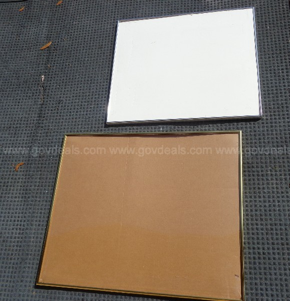 (9) USED VARIOUS SIZES OF SILVER/ GOLD PICTURE FRAMES
