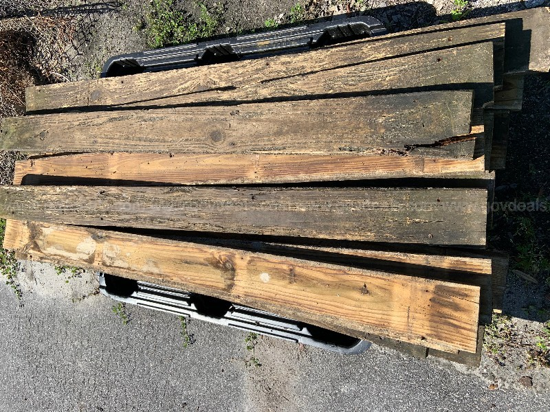 "(22) PIECES OF USED DECKING WOOD  72"" L x 6"" W x 2"" H. SHOWS WEAR"