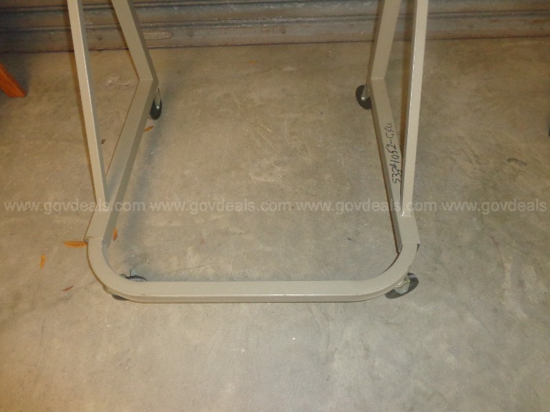 (3) USED SAFCO MOBILE DOCUMENT STAND HANGING BLUEPRINT STORAGE