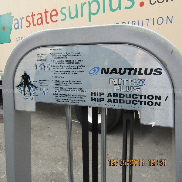 NAUTILUS NITRO PLUS HIP ABDUCTION HIP ADDUCTION MACHINE