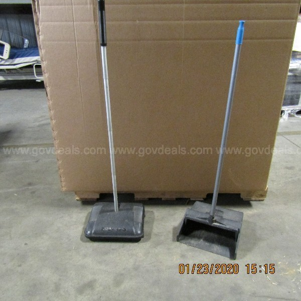 7- 3.5x4 ft boxes on skids of janitorial supplies