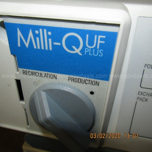 MILLIPORE MILLI Q UF-PLUS WATER PURIFICATION SYSTEM