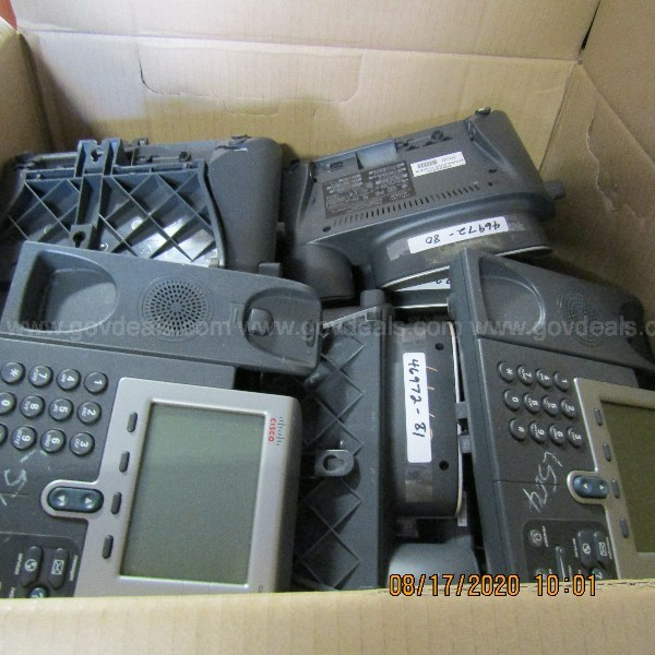 VOIP PHONES AND OTHER ITEMS ON A PALLET
