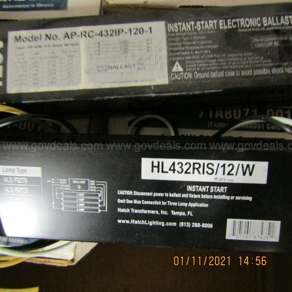 ASSORTED BALLASTS ON A PALLET