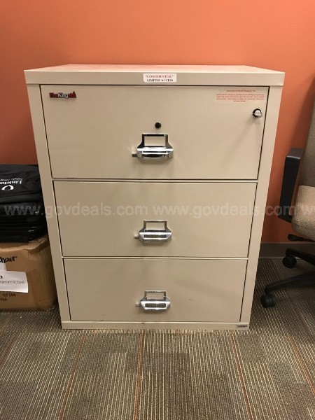 FireKing 3 Drawer Lateral File Cabinet (Fireproof)