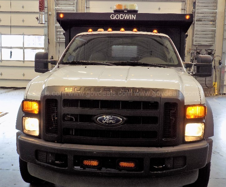 2009 Ford F-550 Regular Cab 16' Flat bed Dump with Liftgate