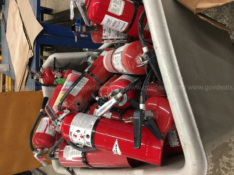 6 Skids of 5lb and10lb EXPIRED Fire Extinguishers