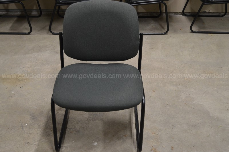 Light Grey Sled Base Conference Chairs