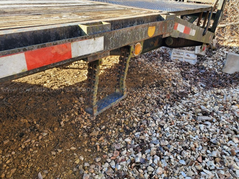1993 Eagle Utility Trailer Deck over Gooseneck with pop-up dovetail!