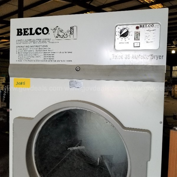 BELCO 35 ATHLETIC Dryer  Auction #3085