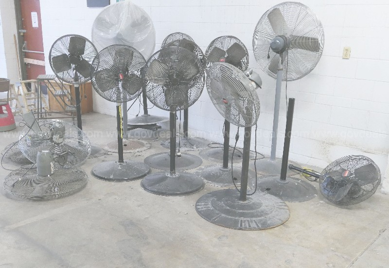 LOT: OSCILLATING & WALL-MOUNT FANS BY GLOBAL & DAYTON
