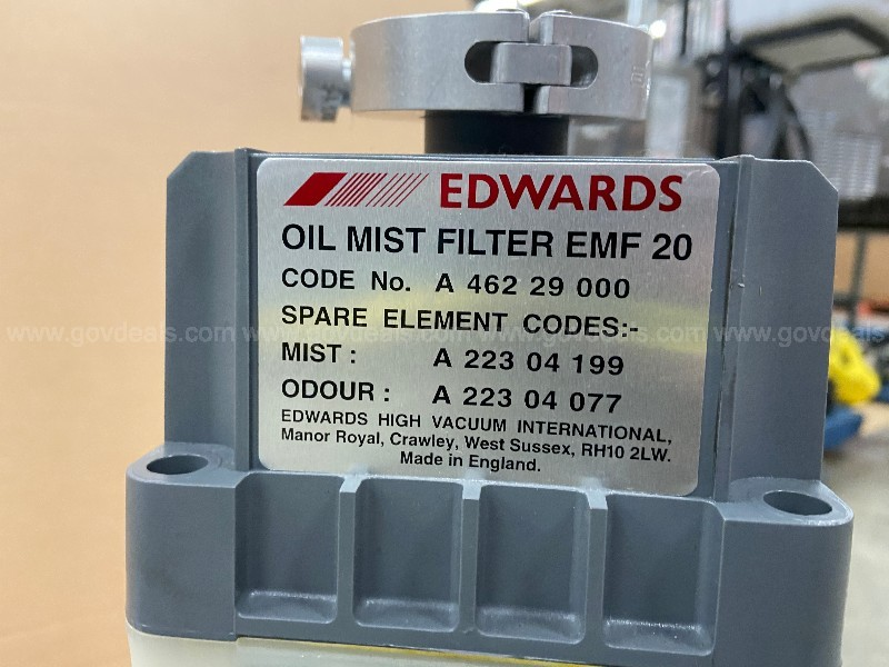 Edwards 30 E2M30 Vacuum Pump, Rotary Vane, Dual Stage, with Oil Mist Filter