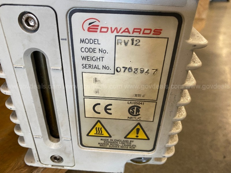 Lot of 2 Vacuum Pumps - Edwards 12 - NOT TESTED