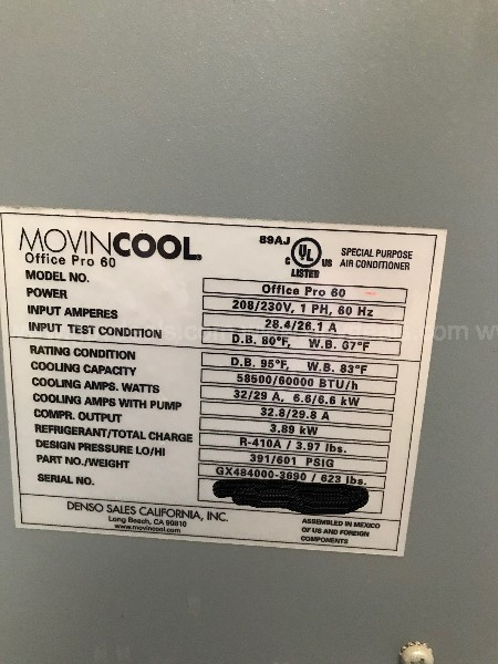 Portable AC Unit - Working Condition with low hours