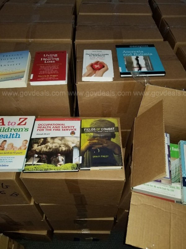 Lot of Library Books (Approximately 250 Boxes)