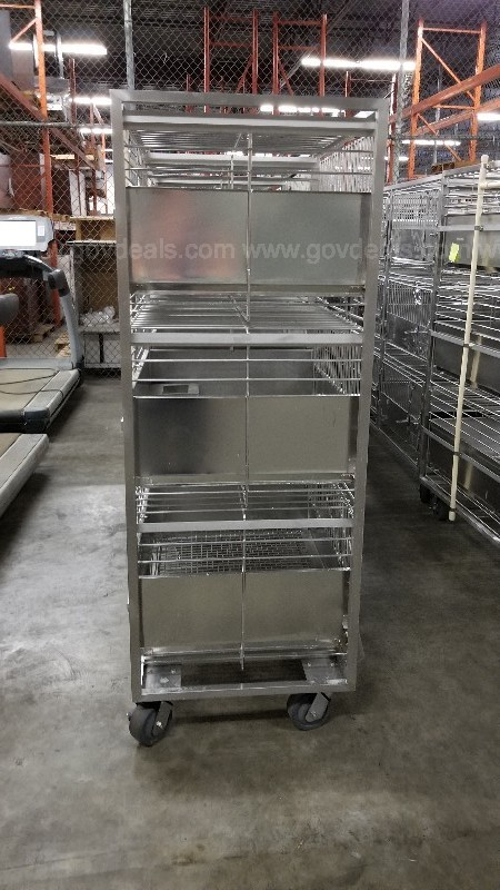Lot of 12 Racks of Rabbit Cages