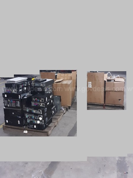 Lot of CPUs, Monitors and Laptops (3 pallets)