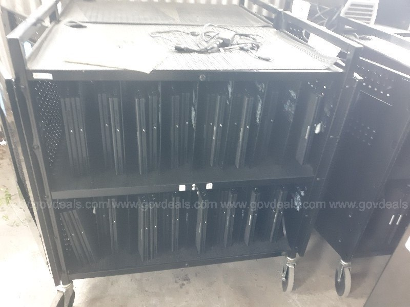 Lot of Desktops, Laptops and Laptop Carts