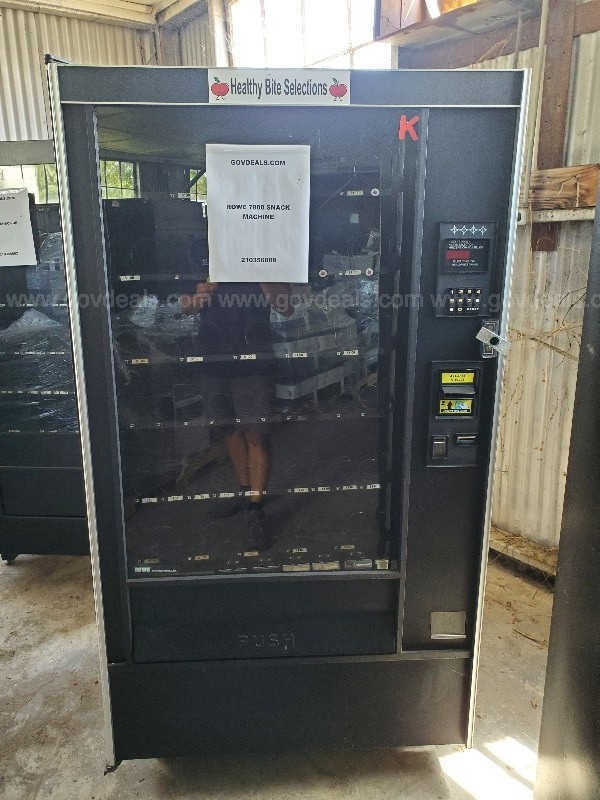 Rowe 7800 Snack vending machine and AMS Snack Jr. vending machine