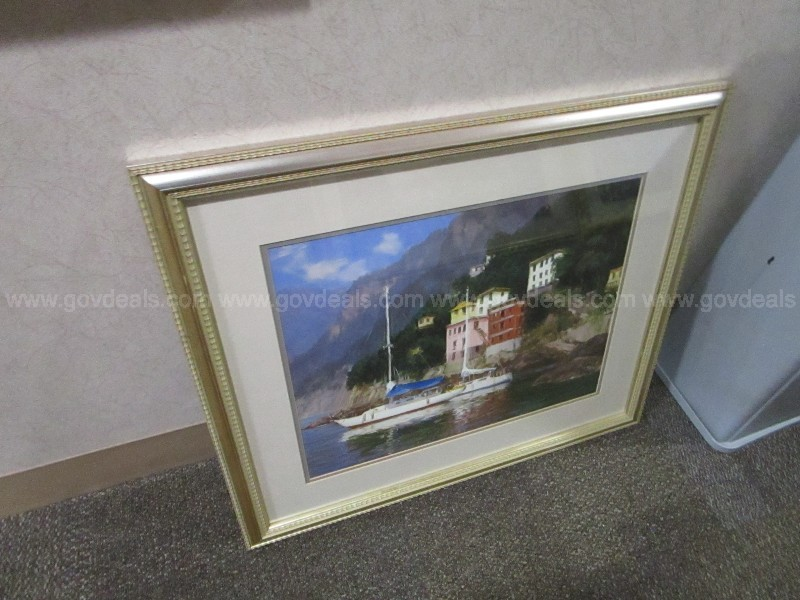 Large group of Framed Hospital Waiting Room Prints some signed