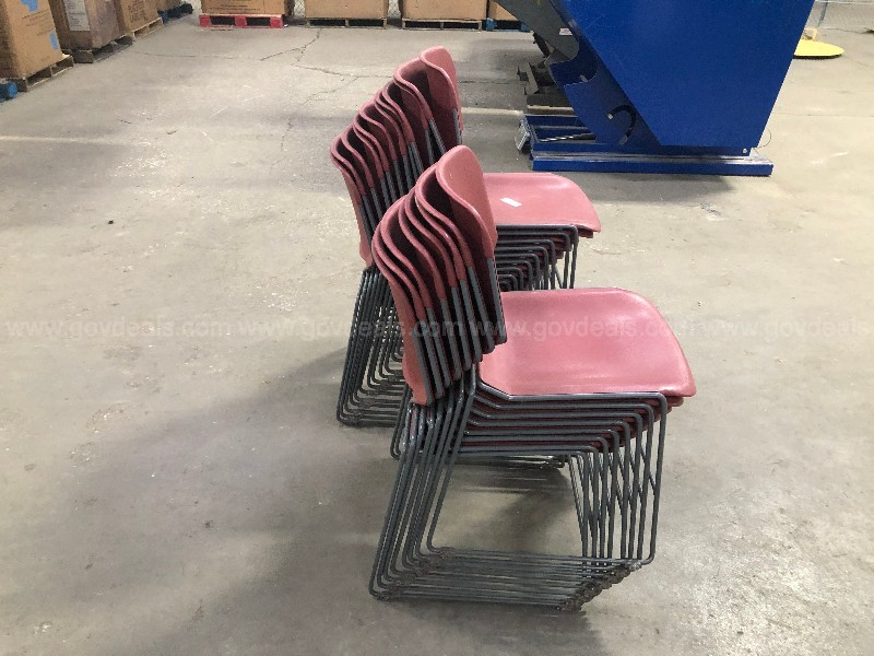 20 Stacking Plastic Chairs