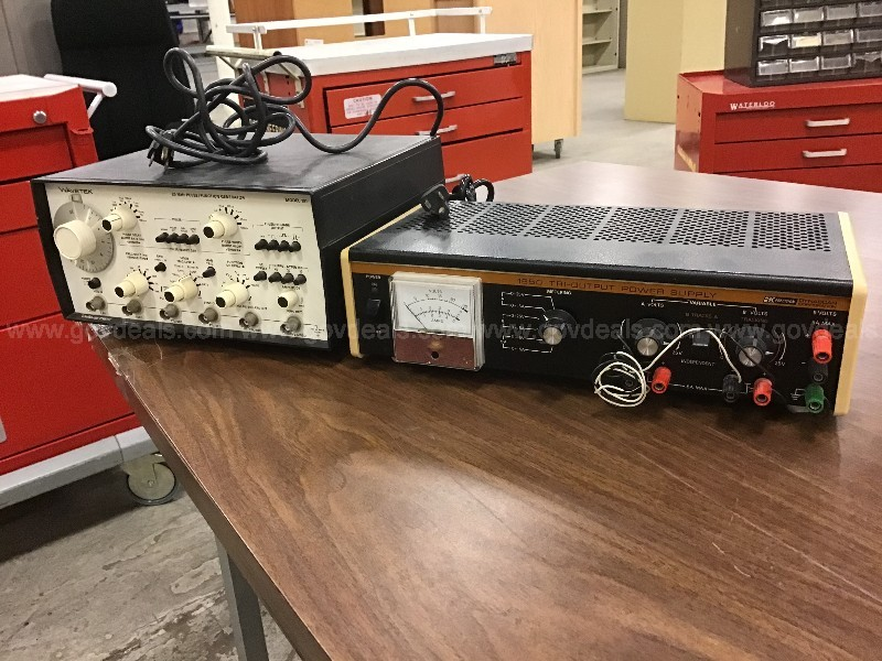 A WAVETEK model 191 and a B&k Precision Power Supply Model 165