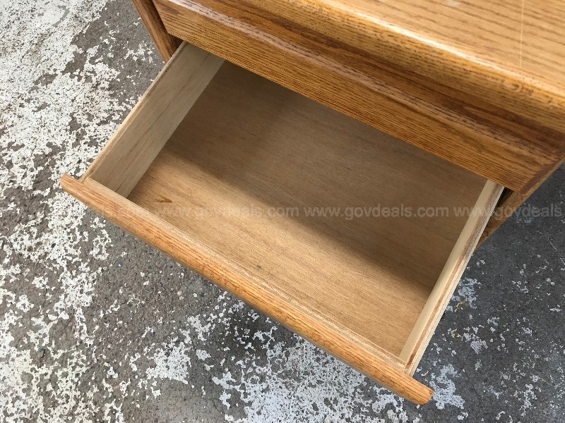 OAK WOOD  5 DRAWER  DESK