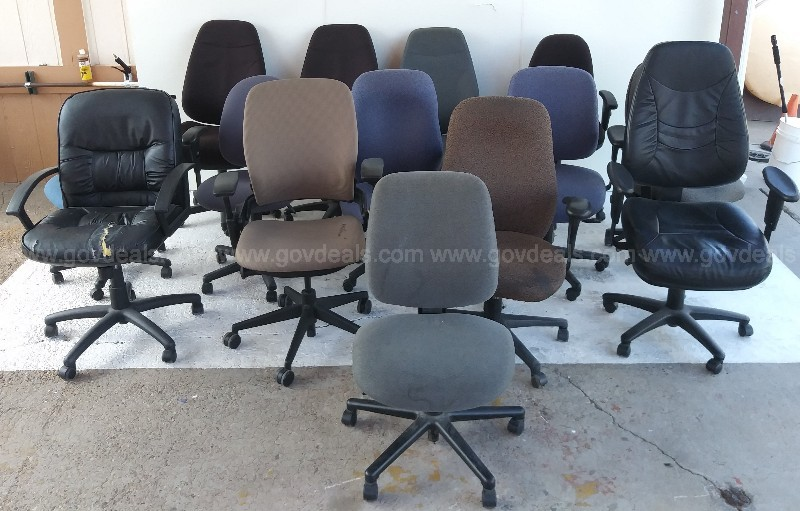 OFFICE CHAIRS HON STEELCASE FIVE POINT BASE CASTERS