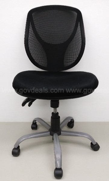 MODERN ROLLING FIVE POINT OFFICE DESK CHAIR CLOTH  MESH BACK