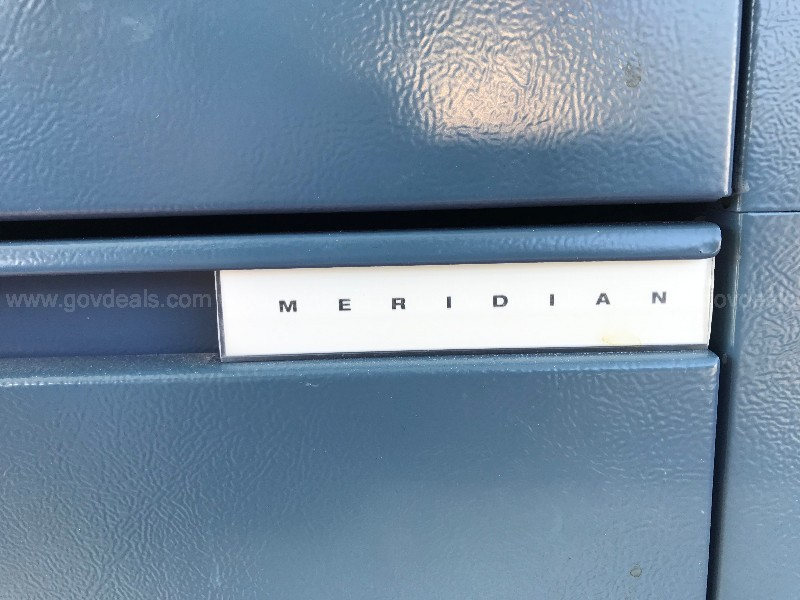 BLUE LATERAL MERIDIAN  FILE CABINET