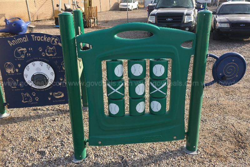 COMMERCIAL OUTDOOR PLAYGROUND COUNTING LEARNING PANEL