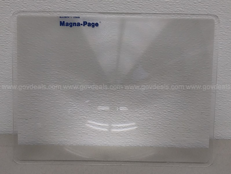BAUSCH & LOMB MAGNA PAGE FULL PAGE MAGNIFIER