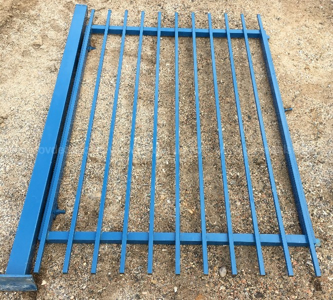 COMMERCIAL METAL FENCING SECTIONS AND GATES